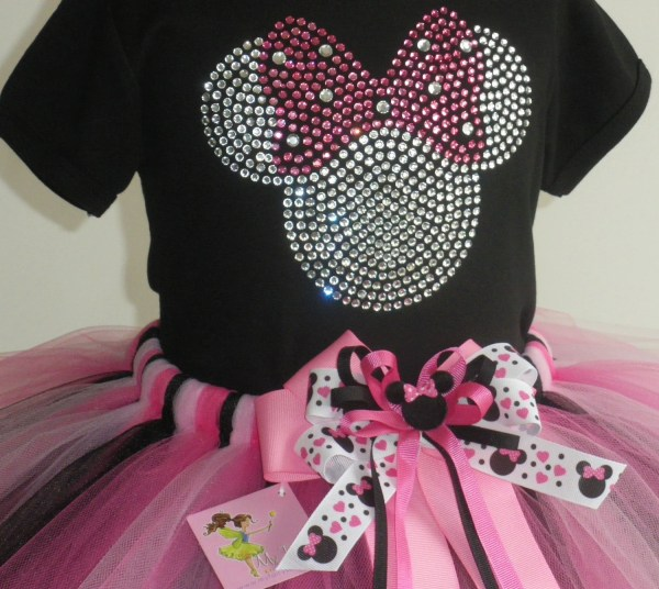 3t 4t Personalized Minnie Mouse Costume Pink Full Tutu