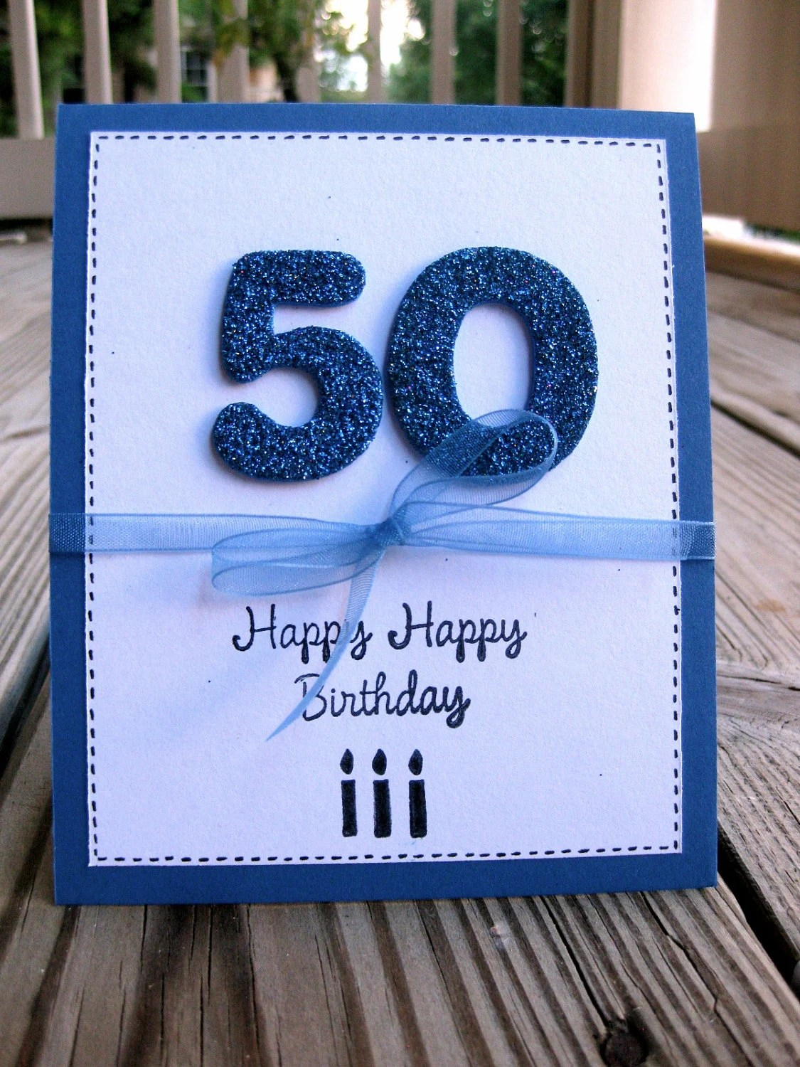 Items Similar To Men's 50th Birthday Greeting Card On Etsy