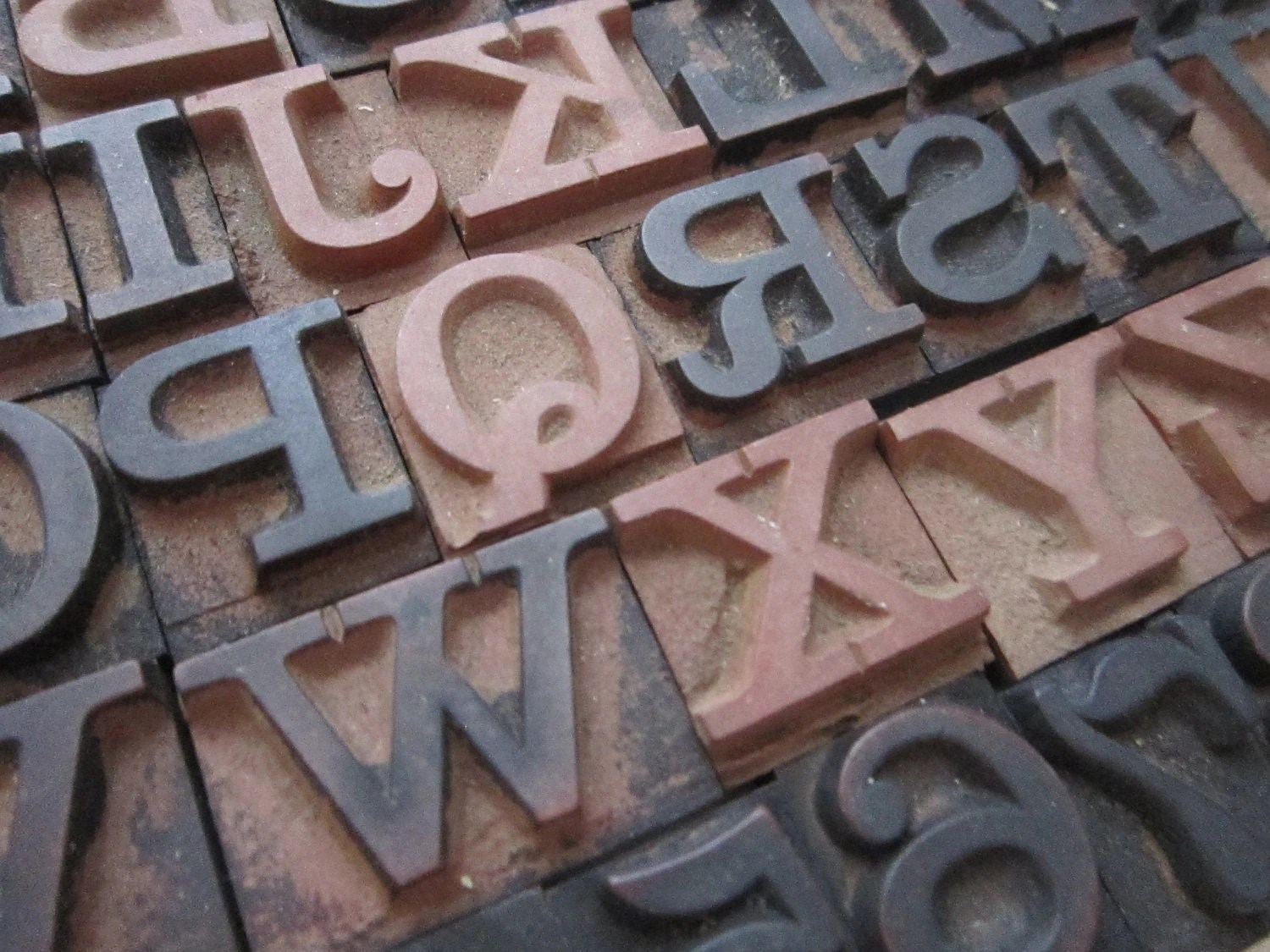 Vintage Rubber Stamps Alphabet And Numbers Complete
