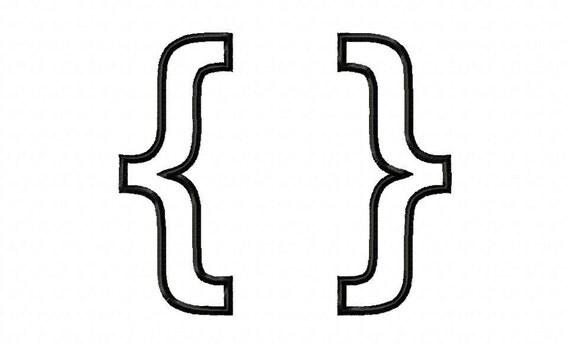 Items similar to Brackets 1 Applique Design Machine