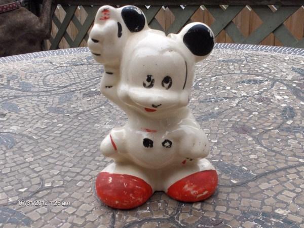 Vintage Ceramic Mickey Mouse Collectible Bank Rare