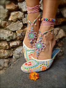 Wedding Barefoot Sandals Sole Shoes Beach
