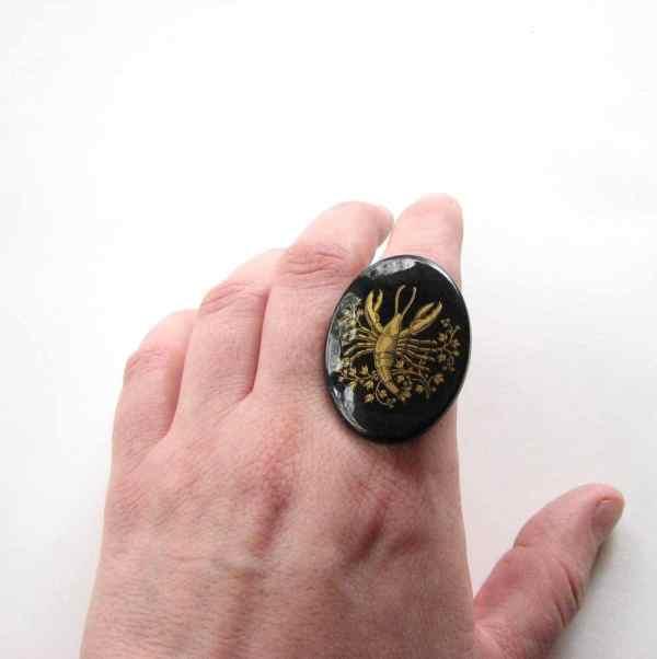 Scorpio Ring Zodiac Jewelry Astrology Sun Sign Gold