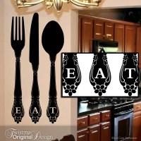 Fork Spoon Knife Kitchen Wall Decal: Flatware by Twistmo ...