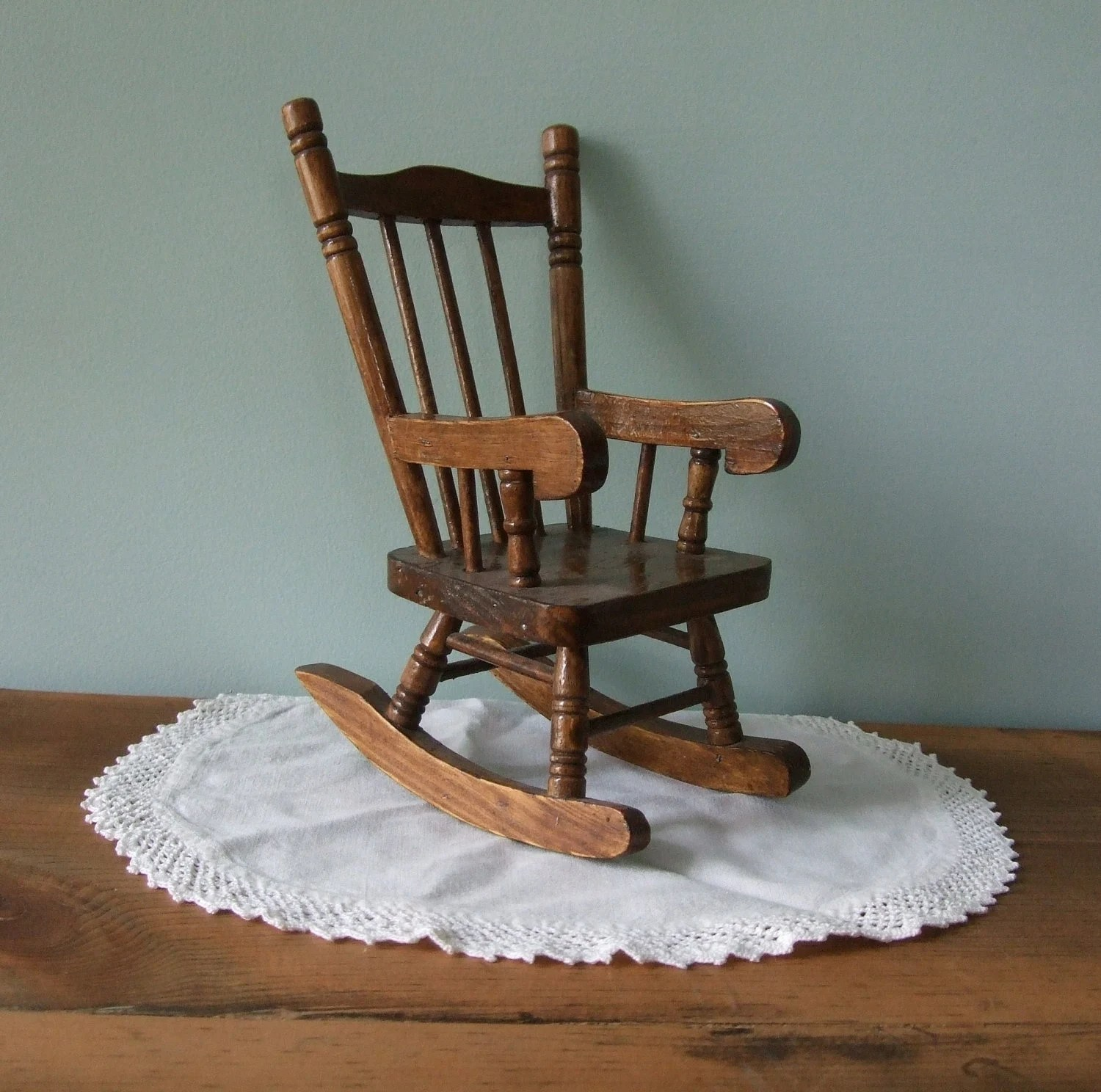 mini rocking chair boon high pink wooden miniature doll house rustic decor