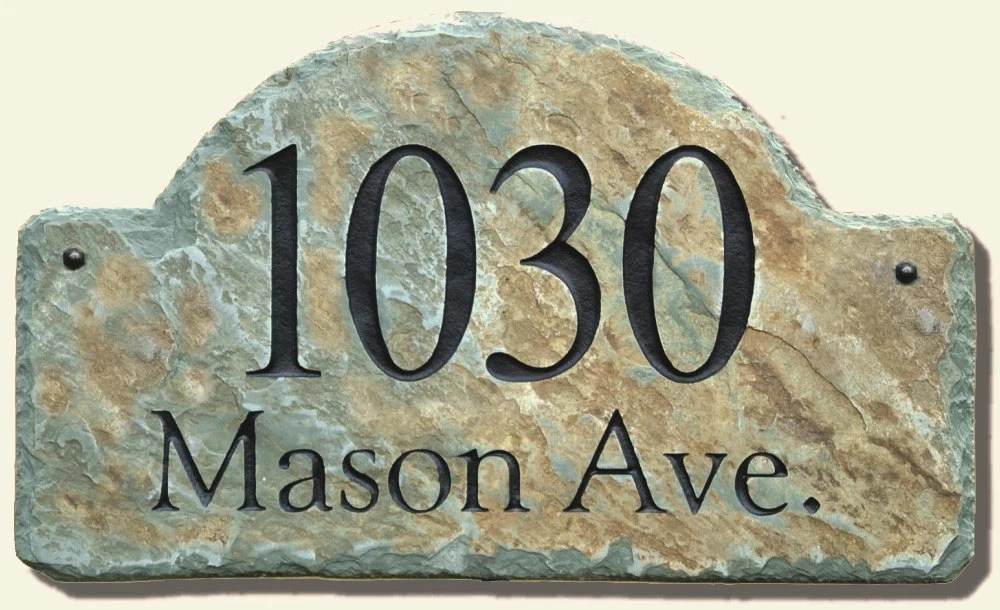ADDRESS STONE HOME Numbers Slate Plaque House Marker Sign
