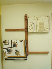 Items similar to Quilt Rack - Wall Mounted on Etsy