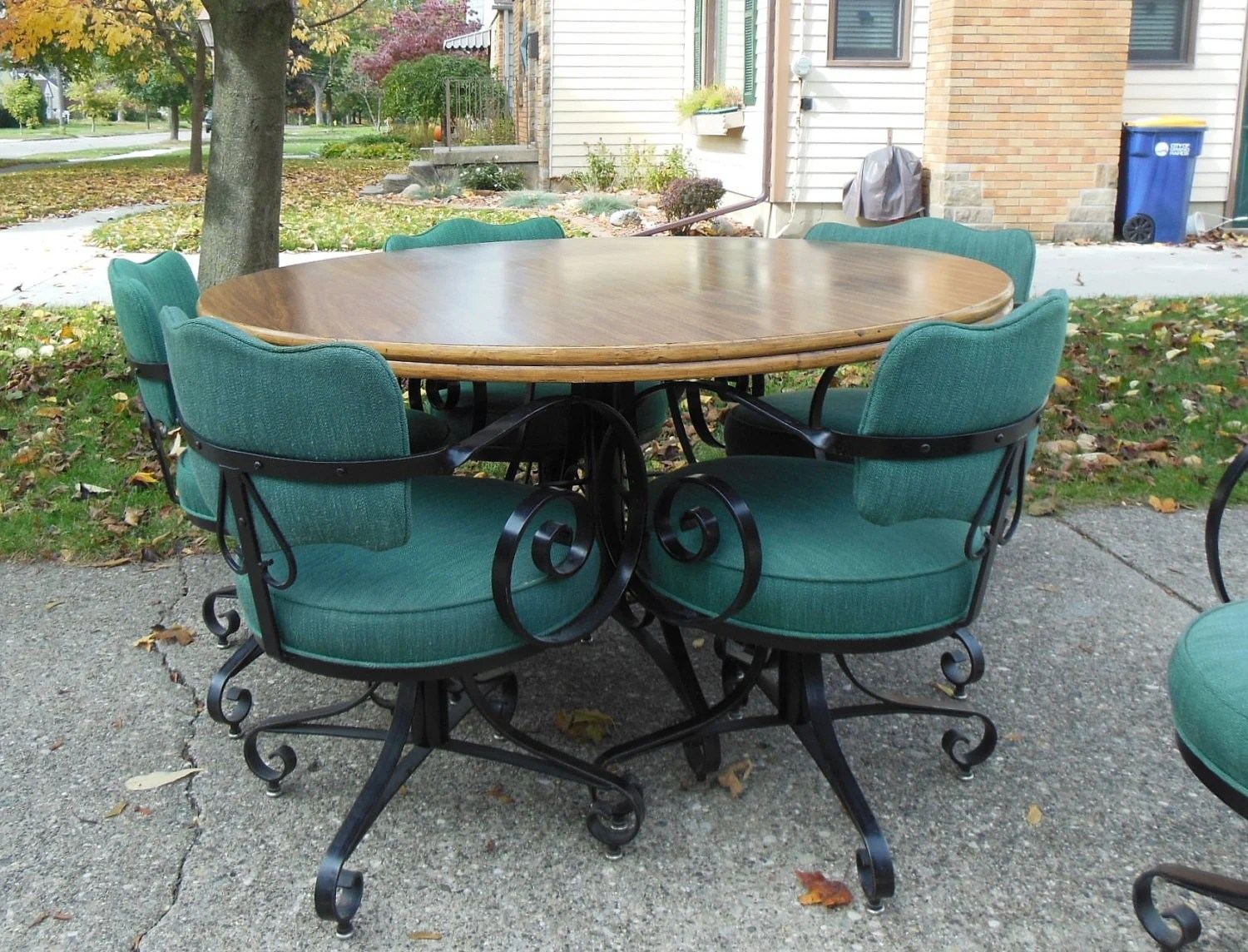 green french bistro chairs ergonomic chair price johannesburg mid century table and wrought iron cafe style