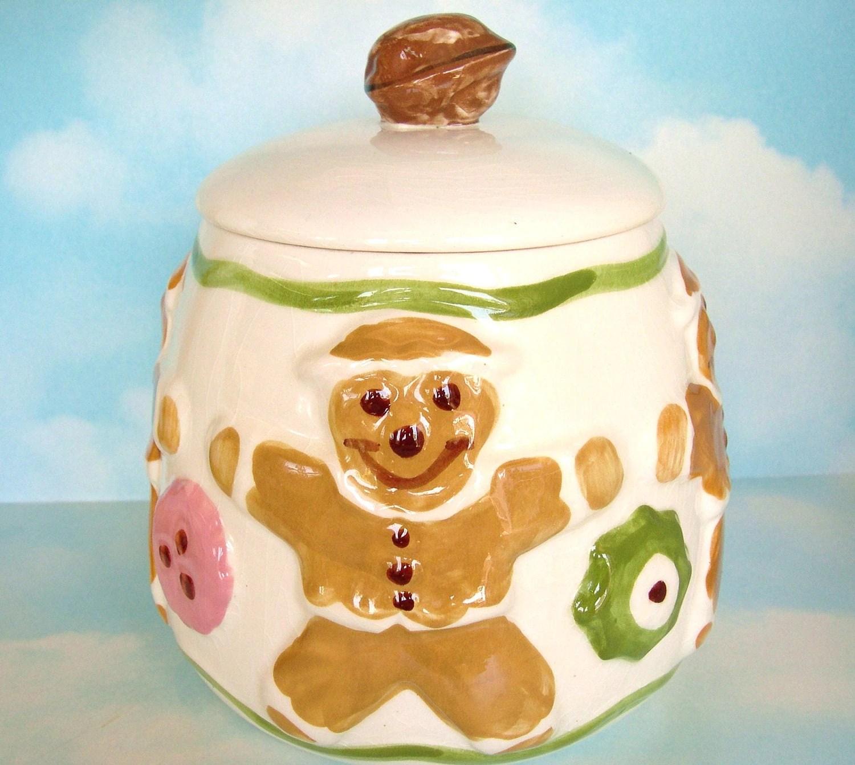 Vintage Cookie Jar Los Angeles Pottery Gingerbread Man