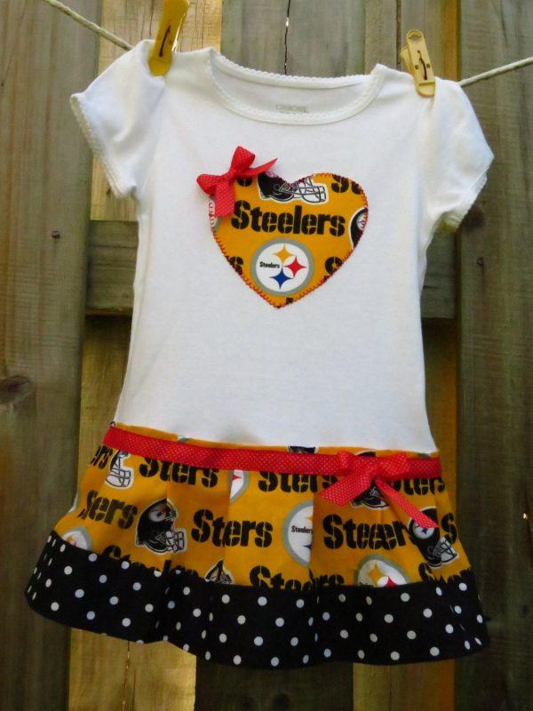 Pittsburgh Steelers Cheerleader Shirt Onesie Dress