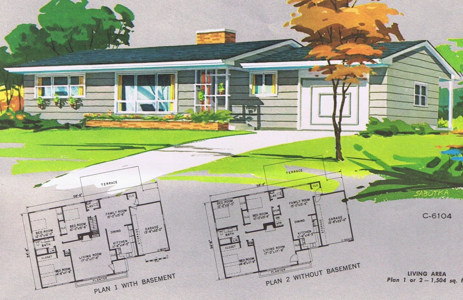 Mid Century Modern Ranch House Plans 1961 National House Plan