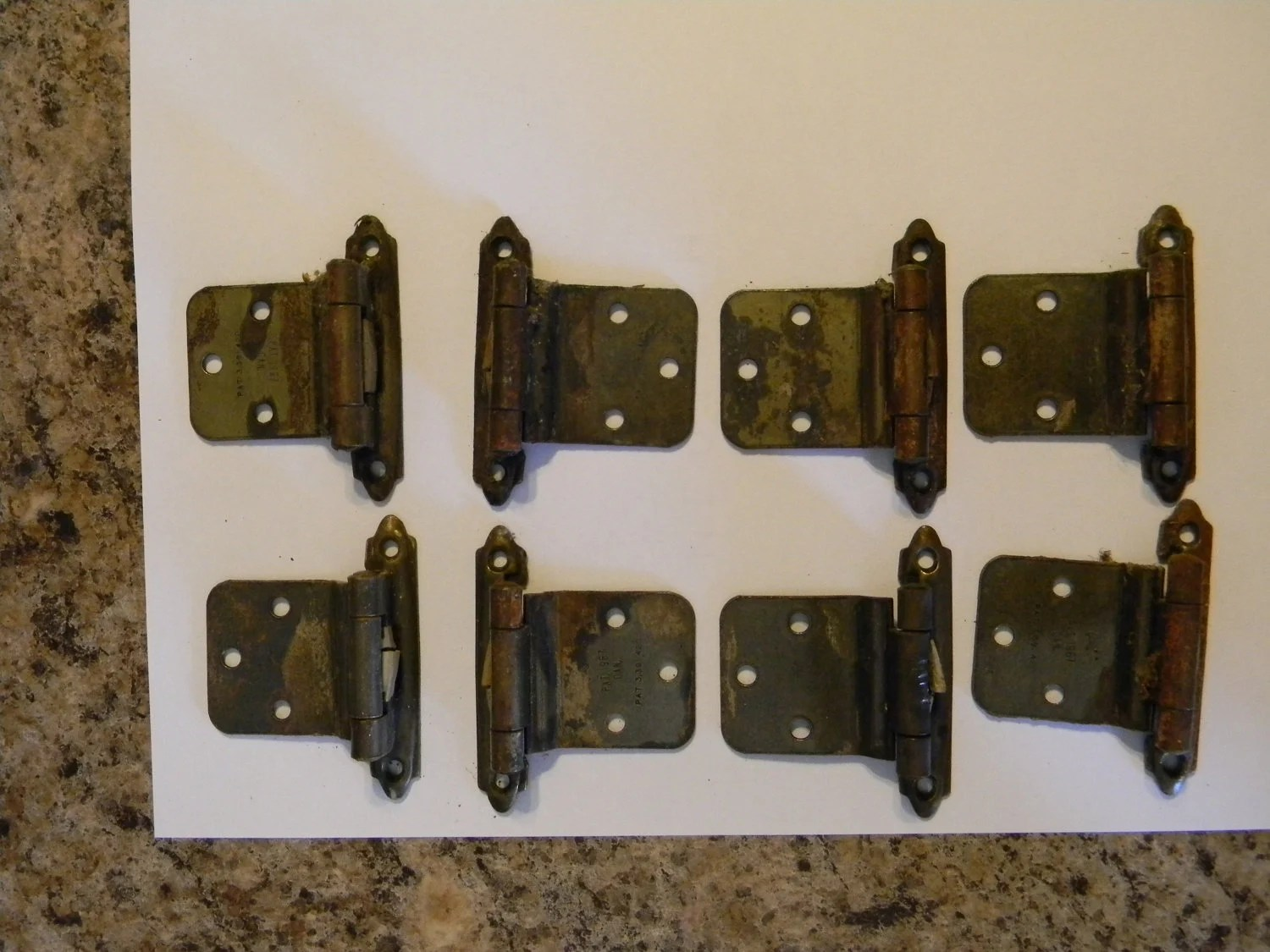 Vintage 1960s Cabinet Hardware Hinges Kitchen Cabinet