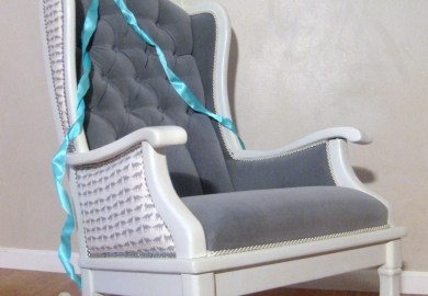 Modern Upholstered Rocking Chair