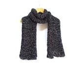 FREE SHIPPING- Knit weft- Knitting Scarf- Black knitting scarf- Wrap- Black Accessories- Black weft- Long Scarf - aynikki