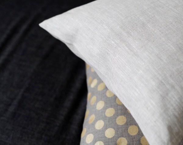 Linen Pillow Case Natural Fabric Cover Light Grey