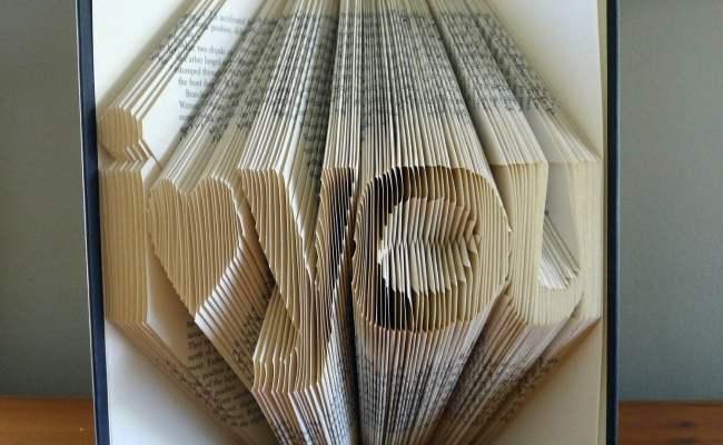 Girlfriend Gift Folded Book Art Boyfriend Gift