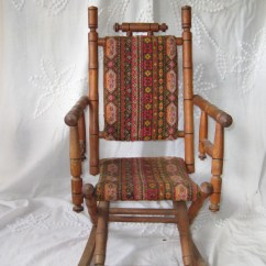 Antique Wooden Rocking Chairs White Executive Chair Philippines Childs Upholstered