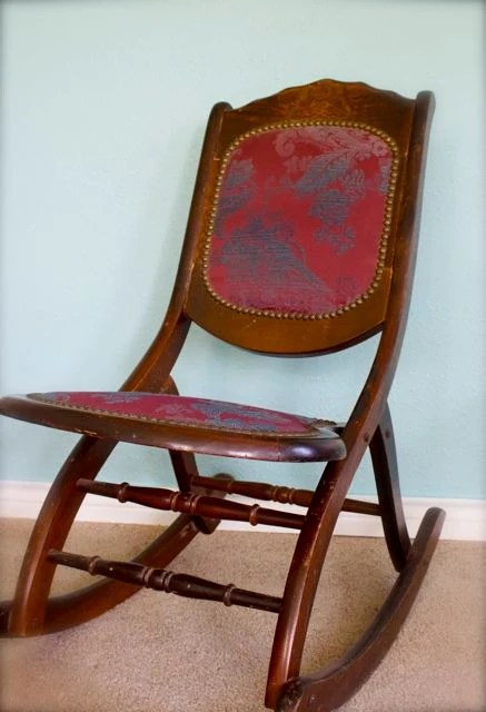 Antique Folding Rocking ChairSewing Chair by VintageLoveJunk