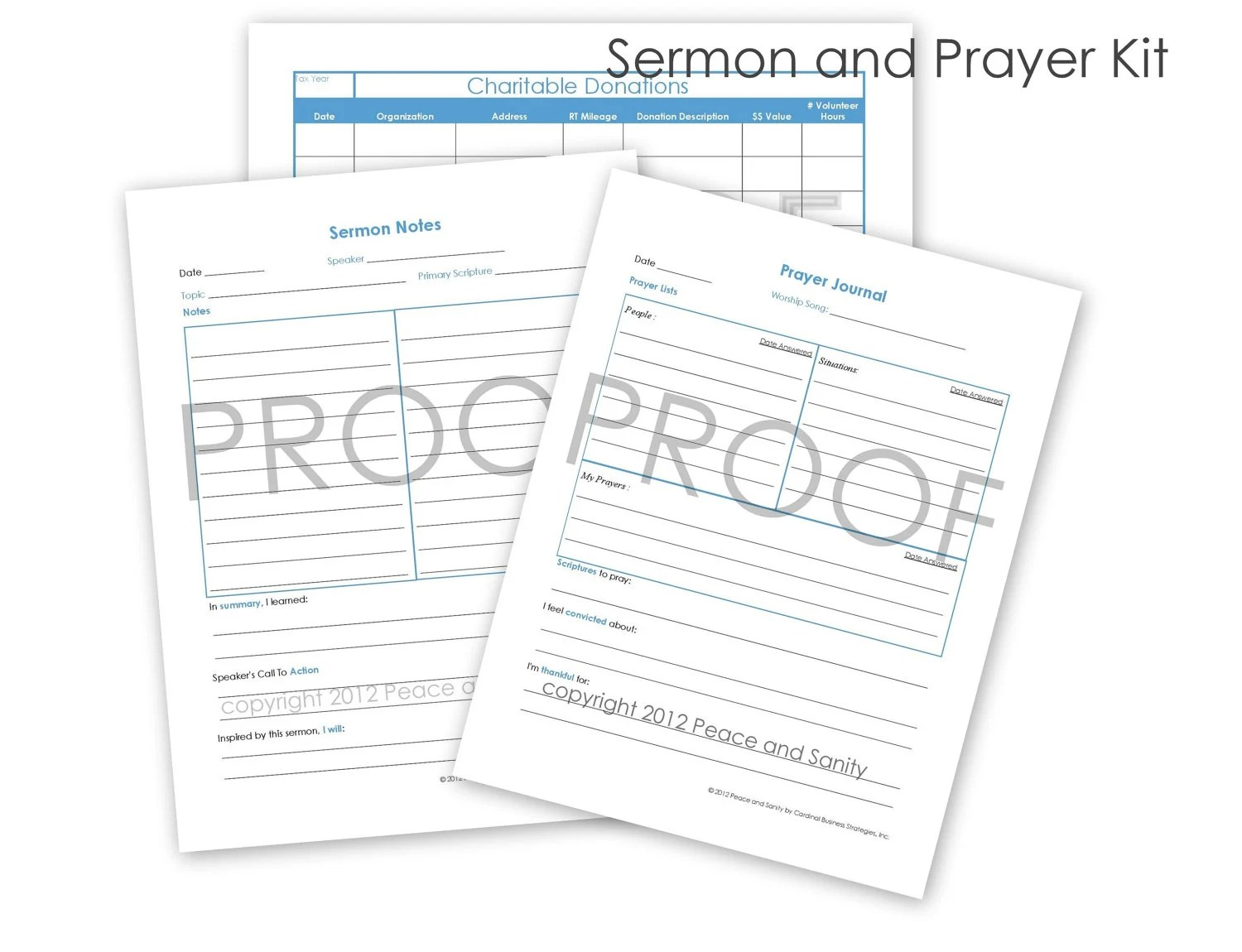 Prayer Journal/ Sermon Notes/ Charitable by PeaceandSanity