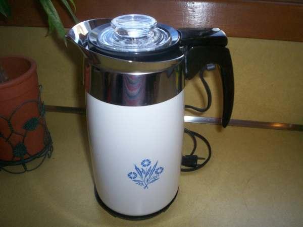 Vintage Corning 10 Cup Coffee Pot Percolator Electric