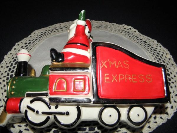 Holt Howard Christmas Santa Train Planter