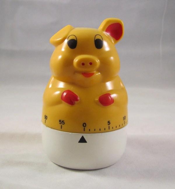 Vintage Pig Kitchen Timer
