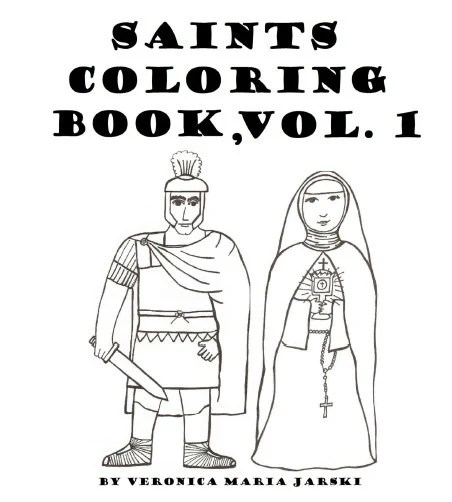 Catholic Saints Coloring Book Vol. 1 by paperdali on Etsy