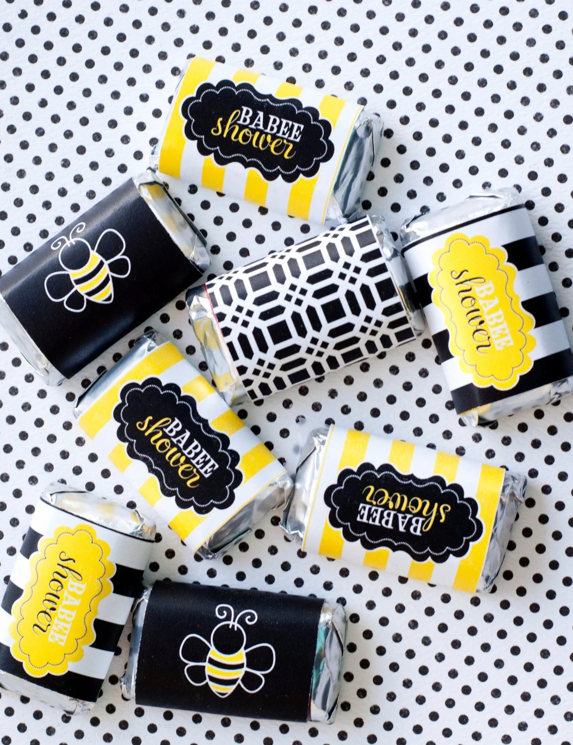 Mama To Bee Baby Shower Printable Candy Bar Wrappers Instant