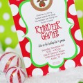 Christmas party invitation printable rudolph party cookie