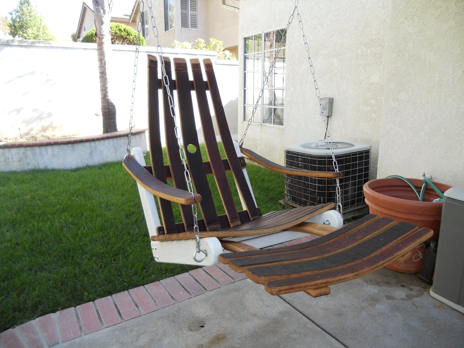 wine adirondack chair dark brown dining chairs rest 39n relaxation upcycled on etsy butterflyintheattic