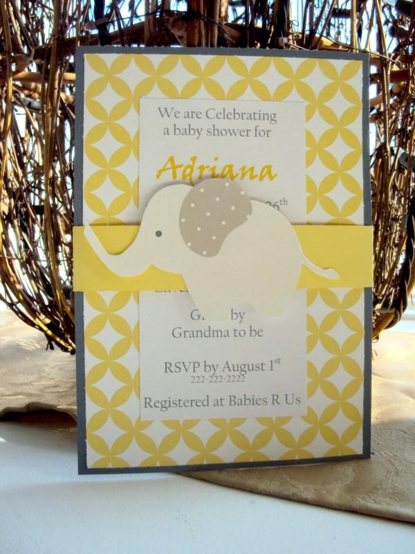 Elephant Birthday Invitations Baby Shower Toocuteinvites