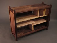 TV Console Cabinet: Mid Century Modern Media Console Wood TV