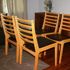 Wooden Slat Chairs For Restaurant Vintage Mid Century Modern Danish Solid Wood