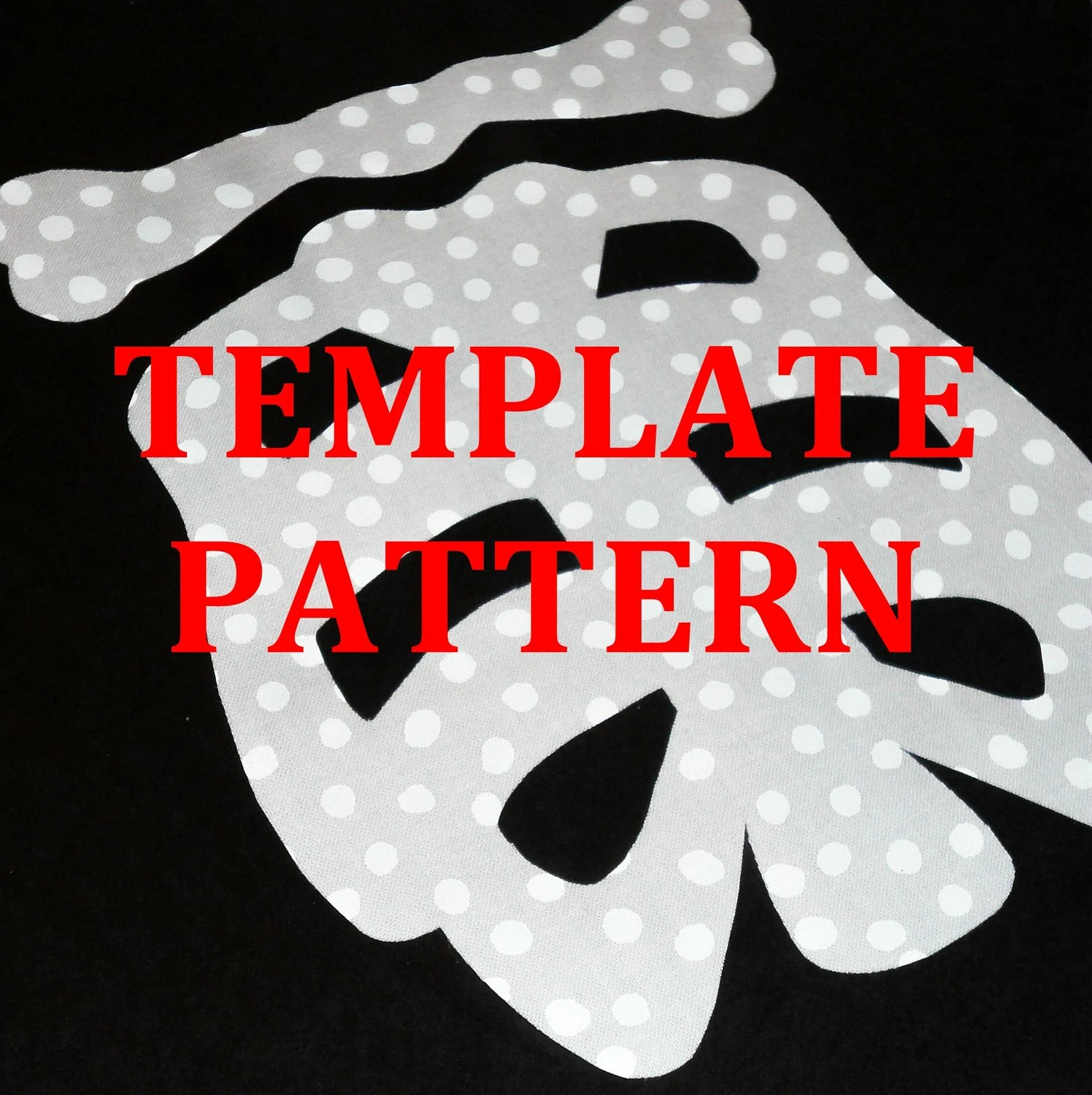 Applique Template Pattern Only 2 Sizes Eleton Bones
