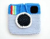 Crocheted Facebook Instagram Pouch. Mini. Purse. - EuniceNeedlecraft