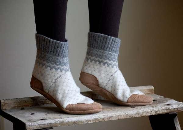 Women Slipper Socks Wool House Slippers Size 8 Wide