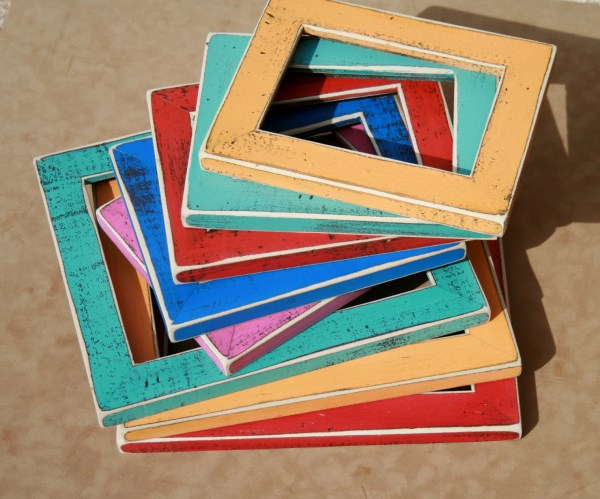 Colored Barnwood Frame 12x18 13x19 Choose