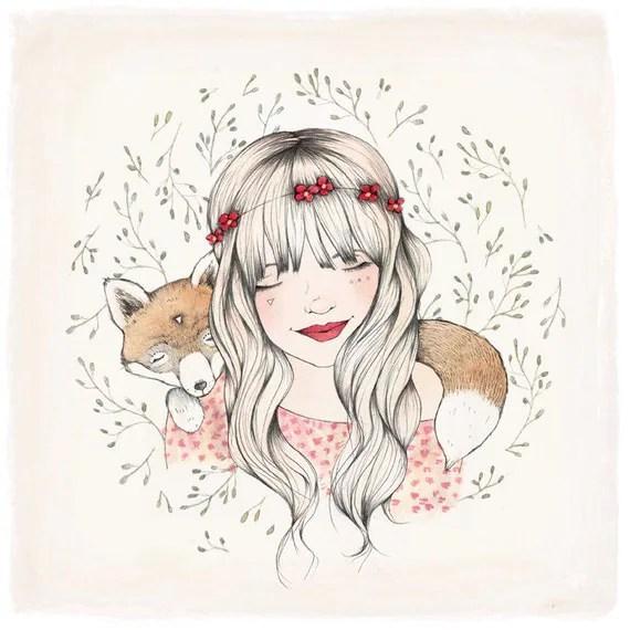 FOX DREAMS - 10 X 10 fine art print
