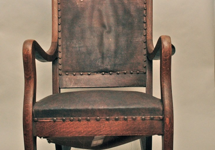 Vintage Leather Rocking Chair