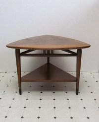 Vintage Mid Century Lane Triangle Side Table by DaveysVintage