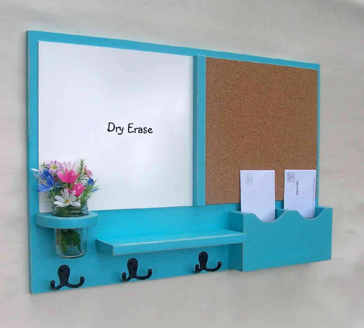 kitchen whiteboard sinks & faucets mail organizer message center cork board white by legacystudio