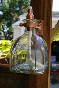 Patron Tequila Tiki Torch / Oil Lamp including bottle by ...