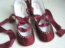 Items Similar Burgundy Ballet Flats Juliette Bridal
