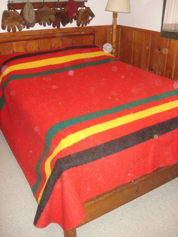 Vintage Pendleton Wool Blanket by whiskeypointpottery on Etsy