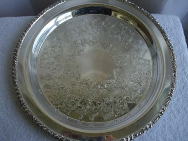 Silver Plate Oneida Henley Tray Platter 13 Diameter