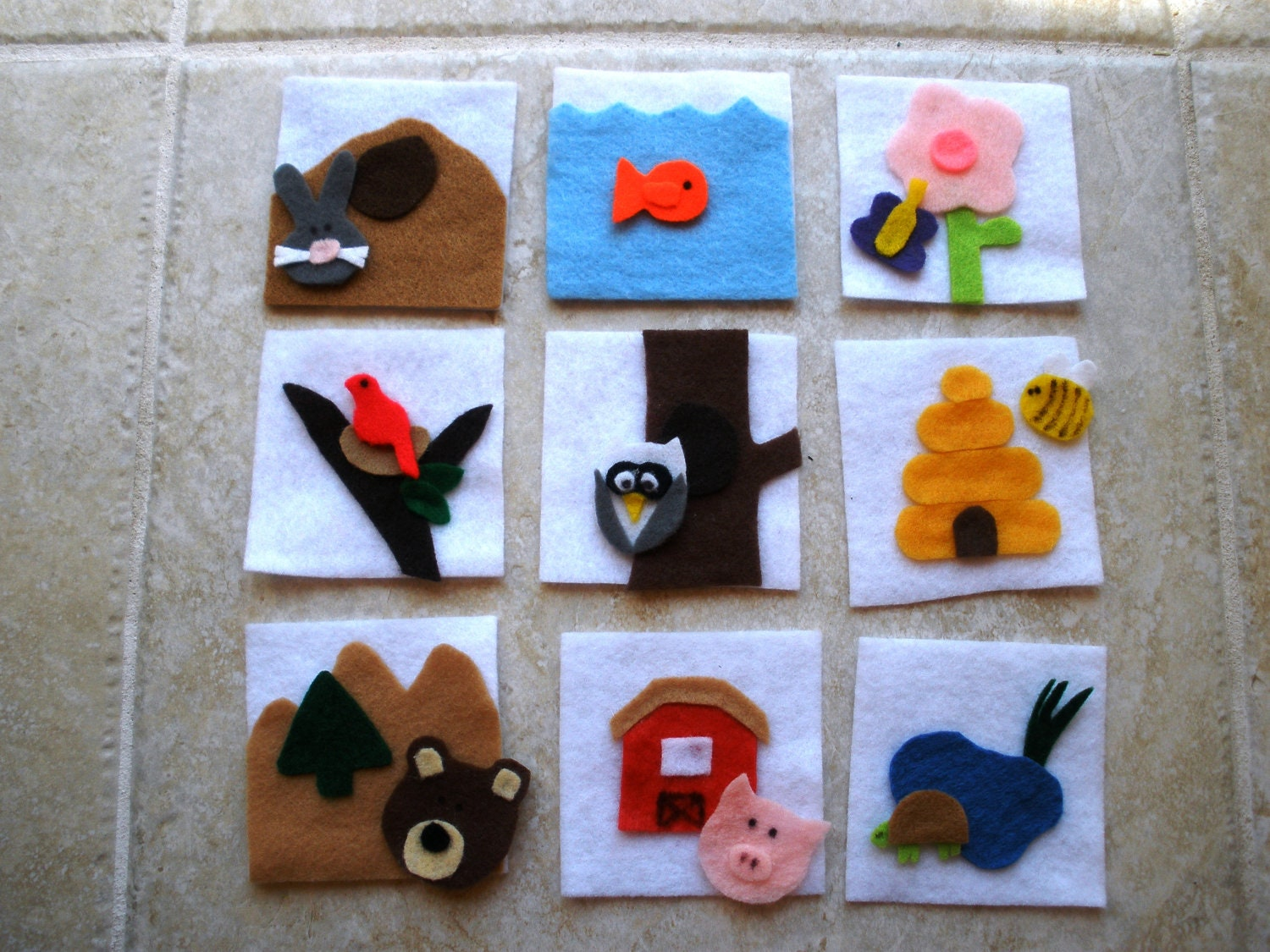 Animal Habitat Felt Matching Learning Game And Activity