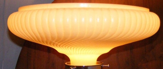 Vintage Art Deco Torchiere Floor Lamp Shade Art Glass Home