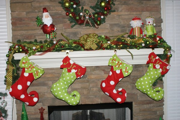 Christmas Stocking Curly Elf Toe Style Personalized Holiday
