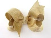 gold bow hair