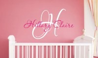 Baby Girl Nursery Wall Decal Monogram Name by JustTheFrosting